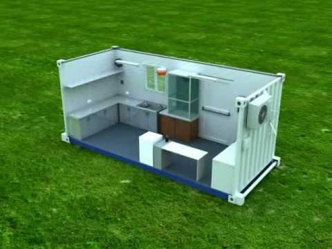 Contenedor laboratorio 20 pies youtube - Casa hecha de contenedores ...
