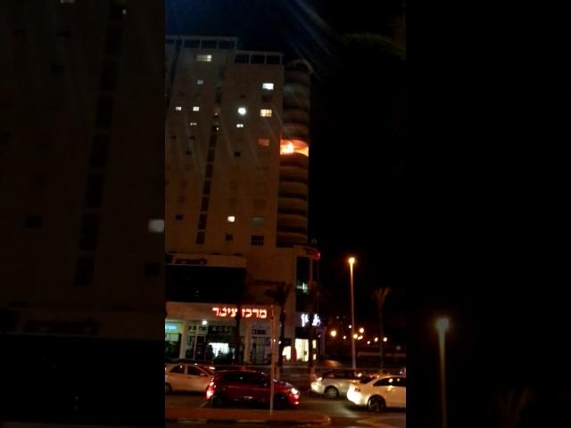 צילום שריפה באשדוד - יעקב מושביץ'