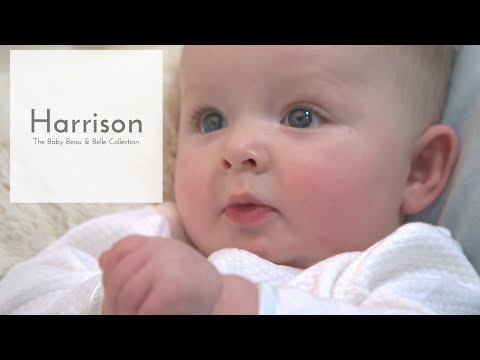 Happy Newborn In The Harrison Baby Boy Jumpsuit Christening Collection