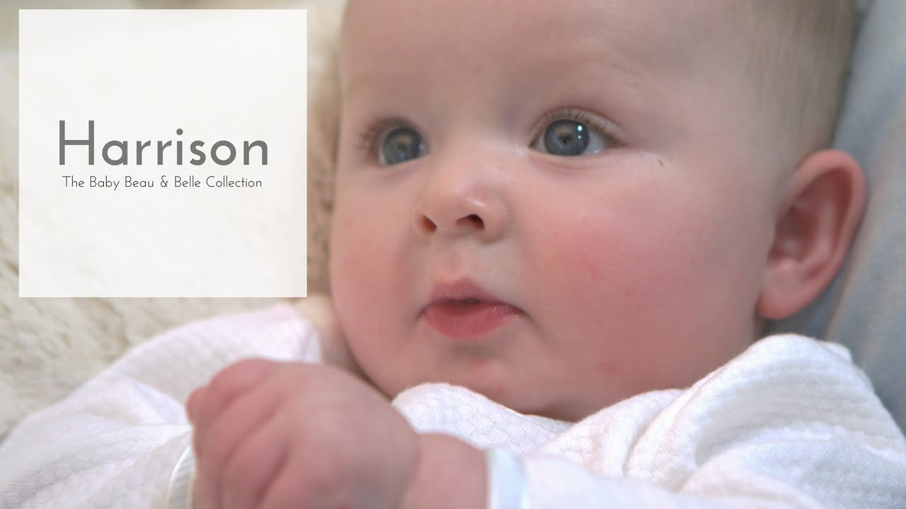 eefbc623c Happy Newborn in the Harrison Baby Boy Jumpsuit Christening Collection. Baby  Beau & Belle