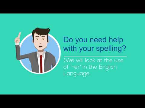 Suffix -ER   English Vocabulary and Spelling Practice