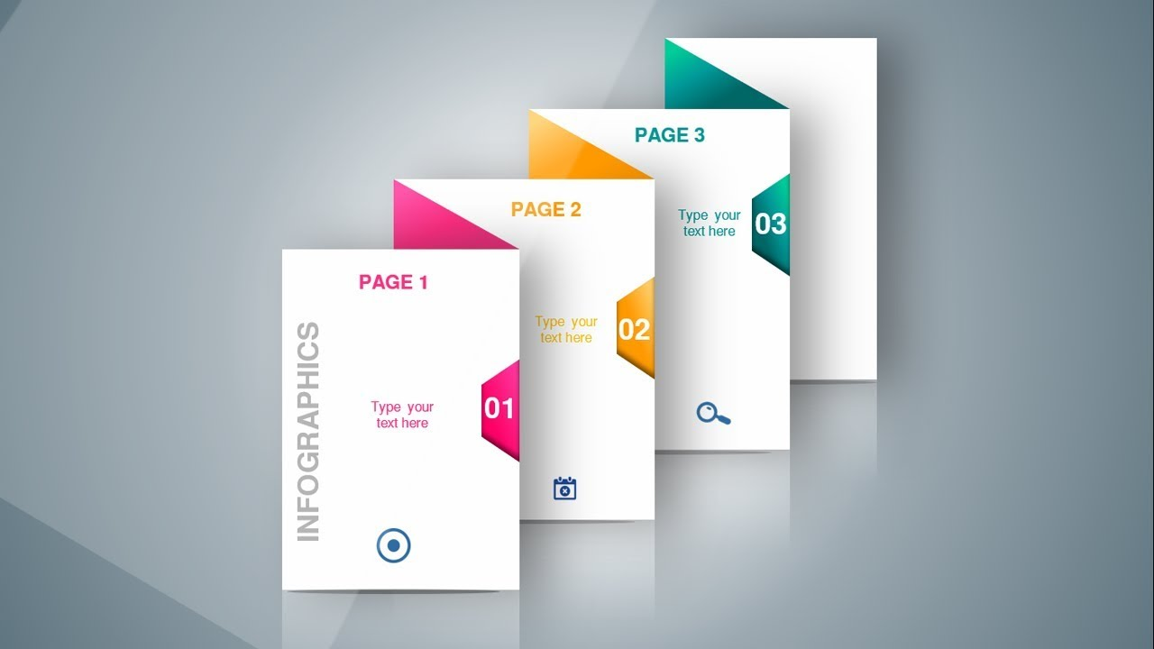 3 Steps Infographic Design Slide In Powerpoint Youtube