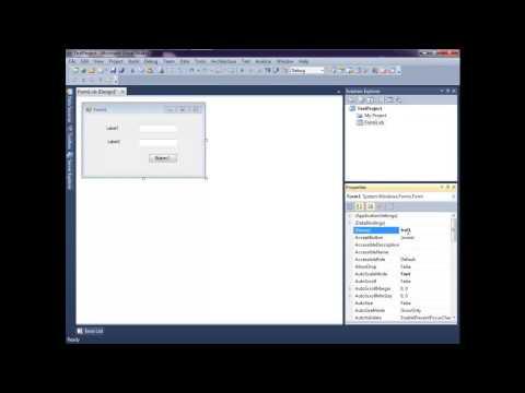 เขียนโปรแกรม Visual Studio 2010 ตอนที่ 1