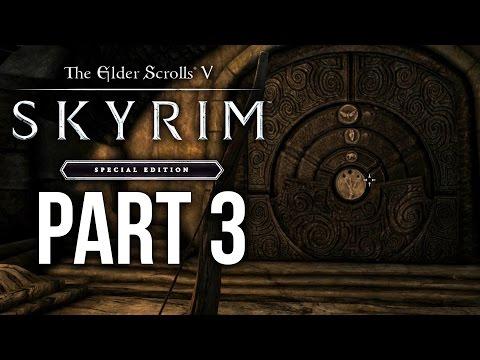 SKYRIM SPECIAL EDITION Gameplay Walkthrough Part 3 - BLEAK FALLS BARROW (SKYRIM Remastered)