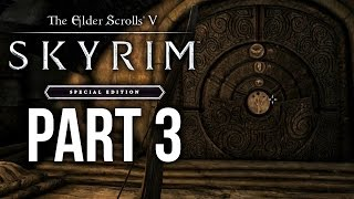 SKYRIM SPECIAL EDITION Gameplay Walkthrough Part 3 - BLEAK FALLS BARROW (SKYRIM Remastered)