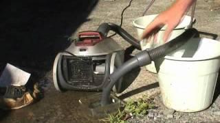 Vacuum cleaner water pump