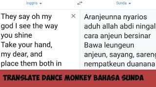 Download TRANSLATE DANCE MONKEY BAHASA SUNDA