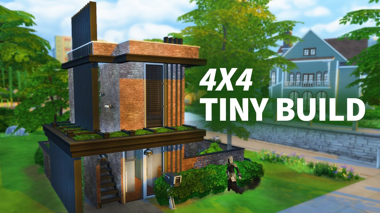 The sims 4 tiny build 4x4 build w sisligracy youtube for Virtual tiny house builder