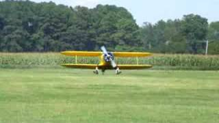 Campbell Field Airport (9VG), Beech Staggerwing Departure