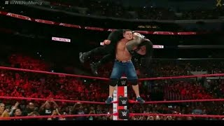 Attitude Adjustment From Top Rope to Roman Reigns in No Mercy 2017