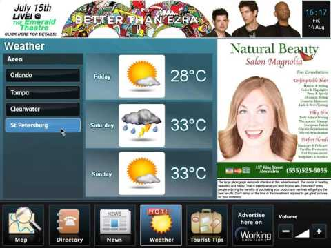 In-Taxi cab interactive advertising solution