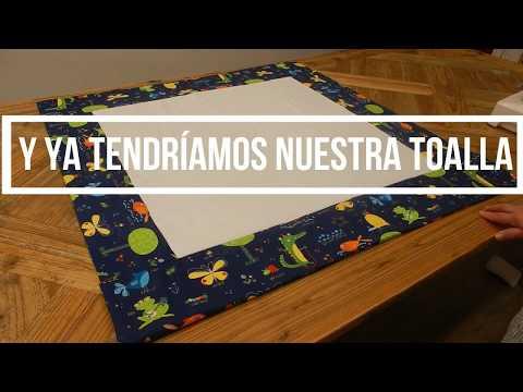 Video De Cómo Hacer Una Toalla Para La Playa O Piscina  Creaciones DIY
