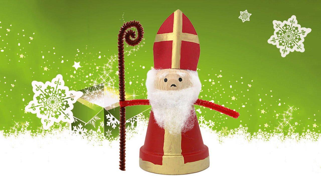 Mini-Nikolaus-Figur zum Nachbasteln und Verschenken - YouTube