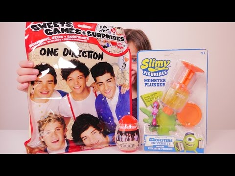 [JOUET] One Direction, Slimy Figurines Monsters University - Unboxing One Direction & Slimy stuff
