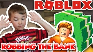 ROBBING THE BANK WITH MY DAD in ROBLOX JAILBREAK | NEW UPDATE | EJECT !