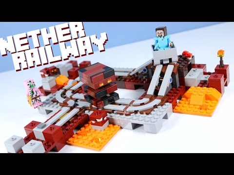 LEGO Minecraft The Nether Railway 21130 With Magma Cubes!