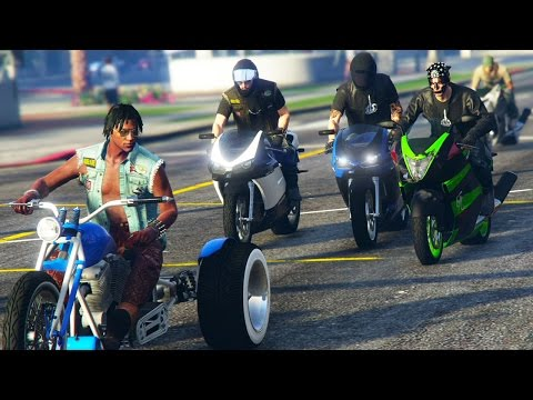 GTA 5 WAR #9 - BIKER GANG BATTLE! (GTA V Online)