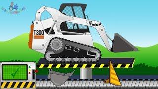 Bulldozer Mini Bobcat T300 | Construction Vehicles | Toy Factory | Kids Video | Pojazdy - Budowa