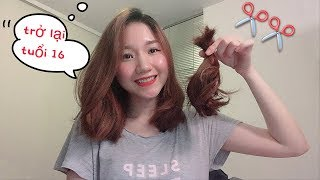 REACTION TO MY NEW HAIR & I CUT MY OWN HAIR SHORT 💇♀✂