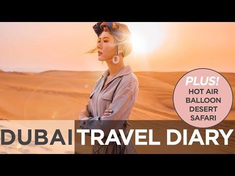 Dubai Travel Diary (Desert Safari, Hot Air Balloon) | Camille Co