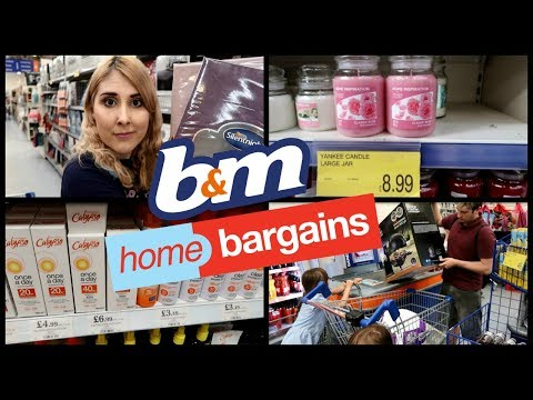 B&M AND HOME BARGAINS VLOG