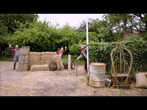 Who is Hiding on the Farm?! | Little Grey Fergie