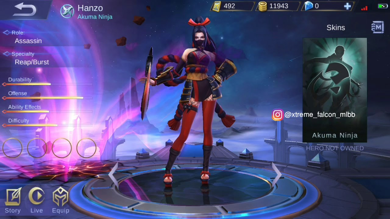 new hero   hanzo background shop animation   and background story mobile legends:bang bang