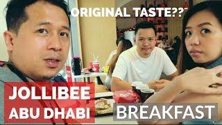 BREAKFAST in JOLLIBEE Abu Dhabi | whats thier menu??