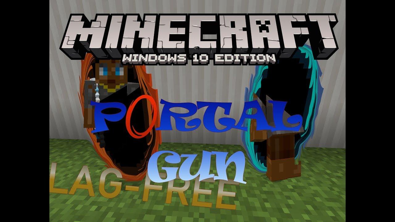 Portal Gun Addon/Command (Redstone) Addon | Minecraft PE Mods & Addons