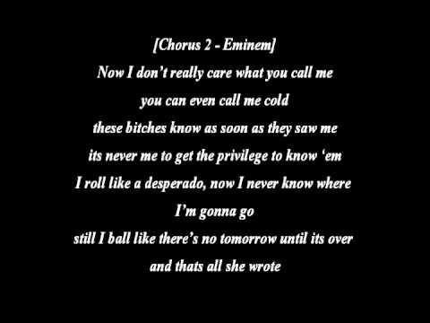 T.I. Ft. Eminem - That's All She Wrote (Lyrics) [HQ]