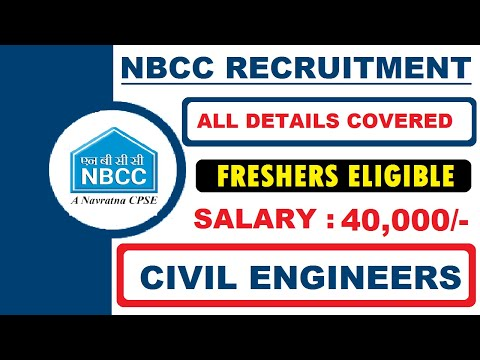 NBCC Recruitment 2020 | Salary ₹40,000 | Freshers Can Apply | Civil Engineering Jobs