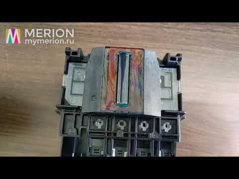 Печатающая головка HP 711 - пропадает цвет, попал воздух