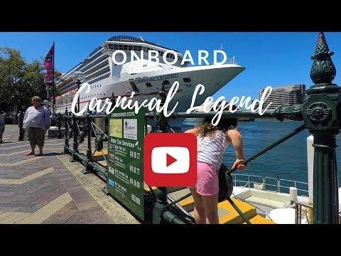 Onboard Carnival Legend Cruise - PART 1 - Family Holidays - plus SYDNEY SIGHTS!