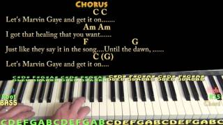 Marvin Gaye (Charlie Puth) Piano Cover Lesson in C with Chords/Lyrics