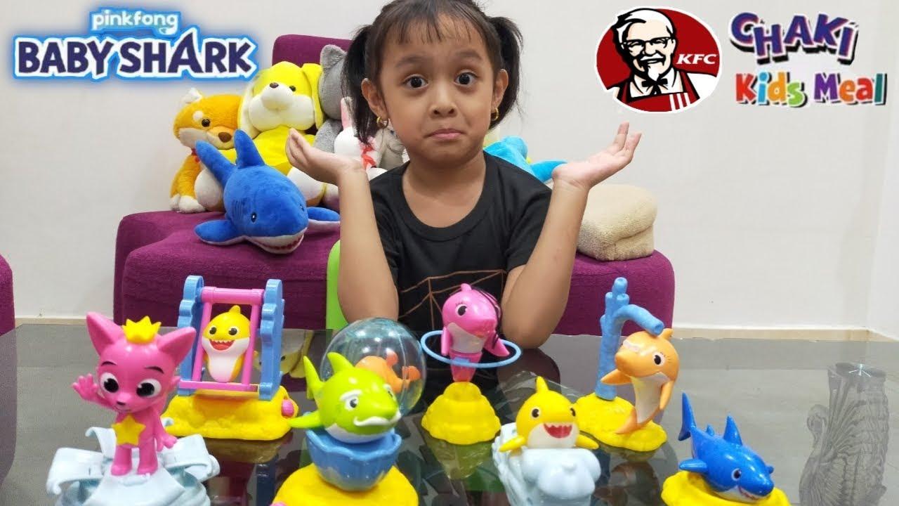Mainan KFC Baby Shark Pingfong - Chaki Kids Meal Terbaru Maret 2020