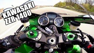 Ich fahre die Kawasaki ZZR 1400 😱