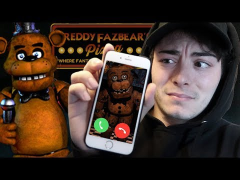 CALLING FREDDY FAZBEAR ON FACETIME AT 3 AM! *IT WORKED* (HE CAME IN PERSON TO THE GYM)