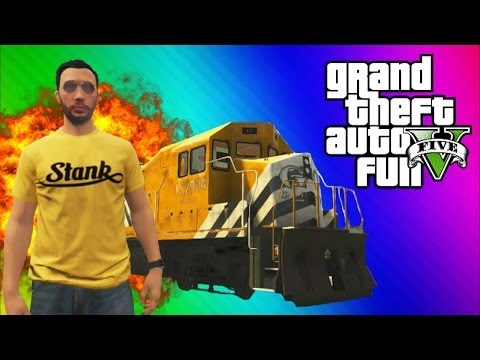 Thumbnail: GTA 5 Stopping the Train! (How to Stop the Train, Train Glitch, Online Funny Moments & Fails)