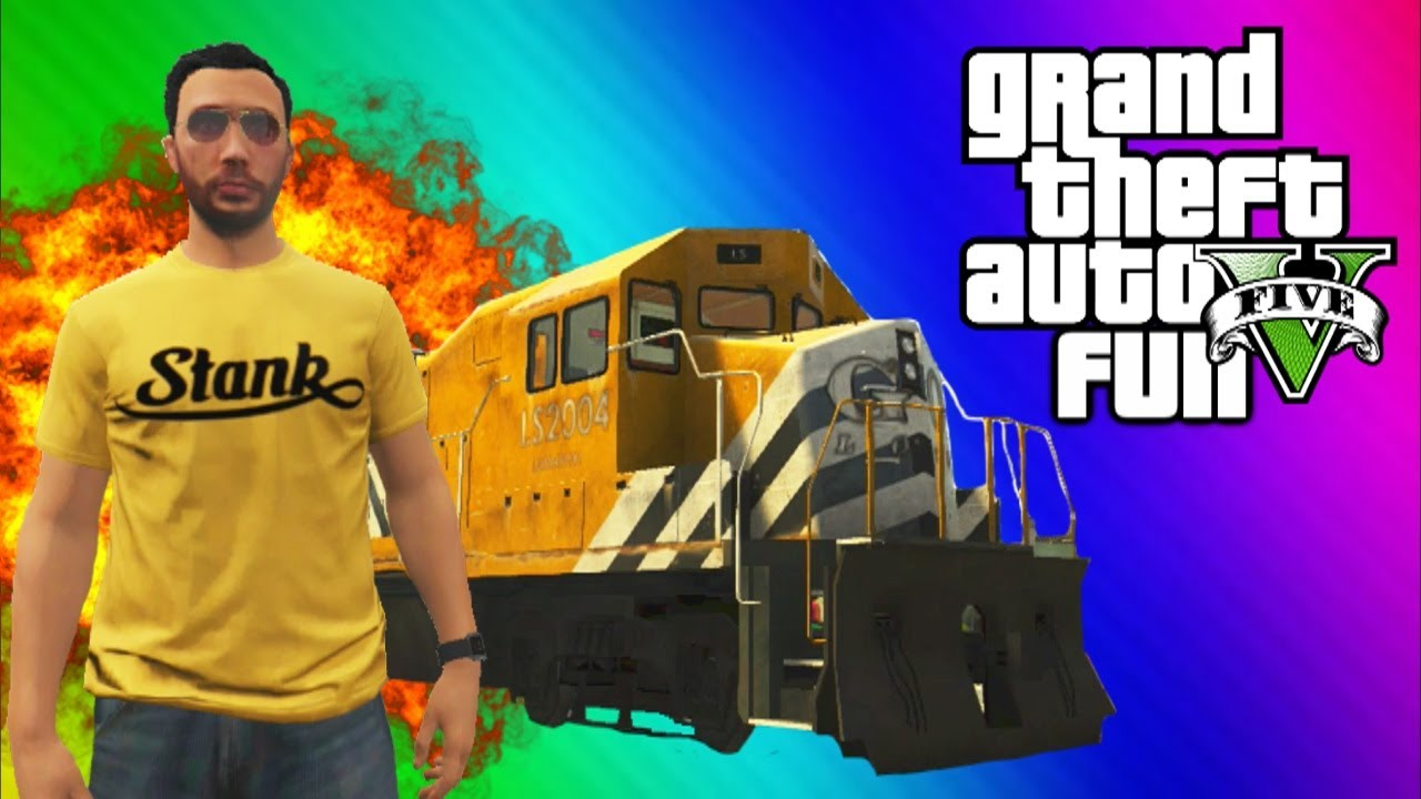 Gta  Stopping The Train How To Stop The Train Train Glitch Online Funny Moments Fails Youtube