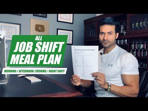 All JOB SHIFT Meal Plan - Morning Shift/Afternoon Shift/Evening Shift/Night Shift   by Guru Mann