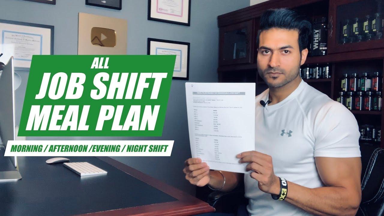 All JOB SHIFT Meal Plan – Morning Shift/Afternoon Shift/Evening Shift/Night Shift | by Guru Mann