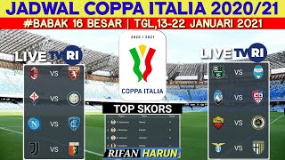 Jadwal Coppa italia Malam ini babak 16 besar | Juventus vs Genoa | Coppa italy round of 16