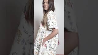 Vídeo: VESTIDO FLORES EVASÉ LYDIA