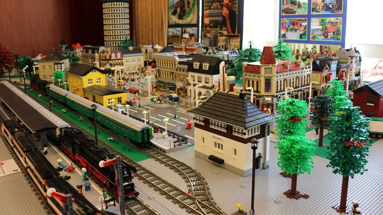 Riesiger Lego Eisenbahn Loop Mit Stadt Der Afols Lausitz E V Youtube