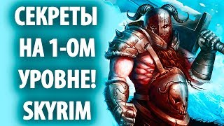Skyrim - Секреты на 1-ом уровне!