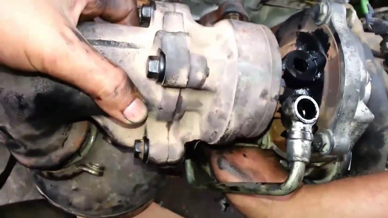 demontage turbo peugeot tepee bipper youtube