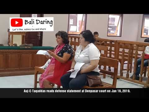 British woman who slapped Indonesian Immigration officer read her defense statement at Bali court