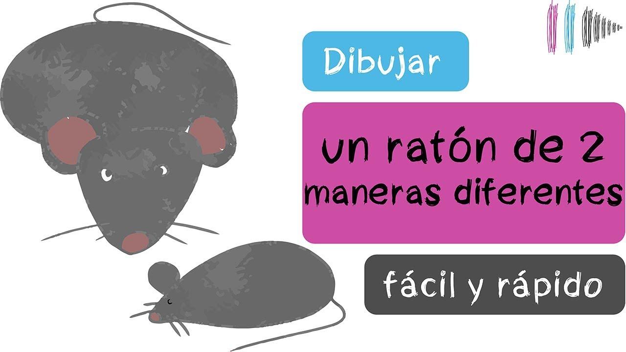 Cómo dibujar un ratón fácil y rápido | Mi dibujo de...