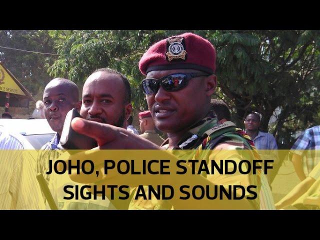Confrontation between police and Joho convoy on Nyali bridge