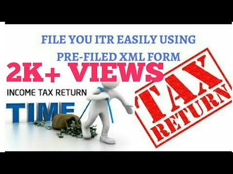file-income-tax-easily-with-pre-filed-xml-form|-itr-form|-salary-individual|